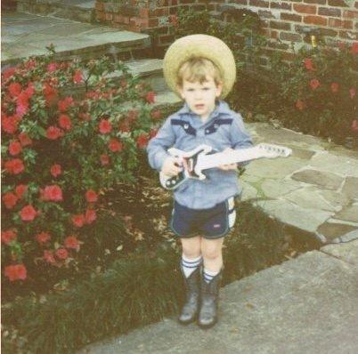 Buck Meek, the guitarist for Big Thief, as a child.
