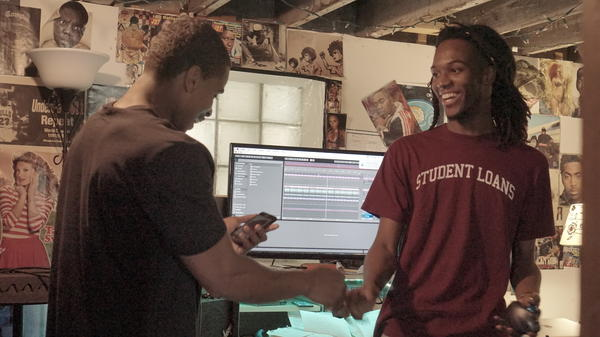Frsh Waters joined Saba in Pivot Gang's basement studio not long after his return home.