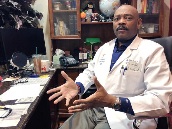 Gerald Harris II, DO, specializes in treating addiction in Glendale, Az. He says he's seen an increase in referrals from doctors concerned that their patients with chronic pain are addicted to opioids.