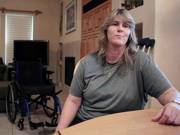 Shannon Hubbard has complex regional pain syndrome and considers herself lucky that her doctor hasn't cut back her pain prescription dosage.