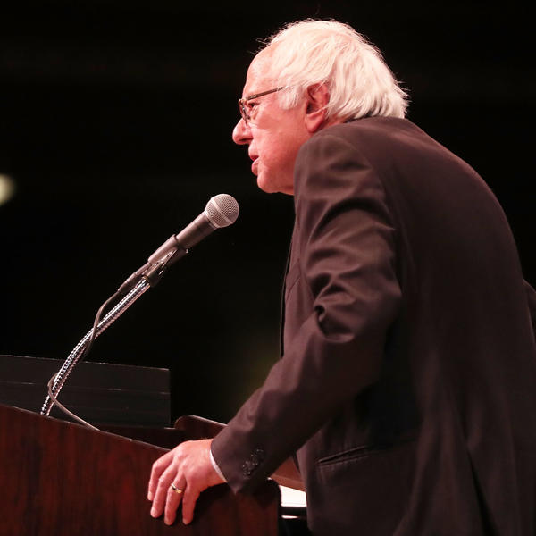 Vermont Sen. Bernie Sanders speaks at a 2016 event in New York City. Sanders describes himself as a socialist, but is not a member of the rapidly growing Democratic Socialists of America.