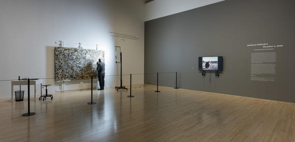 """Stavroudis says he's """"right on schedule"""" to finish his work by the end of the exhibition on September 3."""