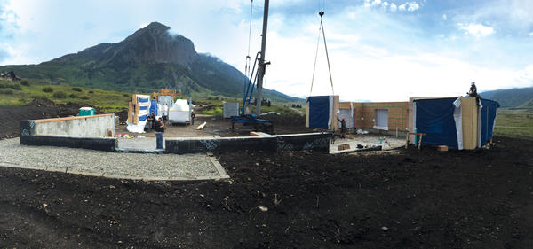 A Phoenix Haus home under construction. Phoenix Haus is a rural company that benefits from Jump Start Colorado.
