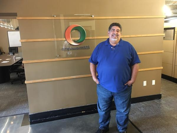 Jorge Perez, who is named as a defendant in the lawsuit, at the Kansas City office of Empower HMIS, one of many companies he runs.