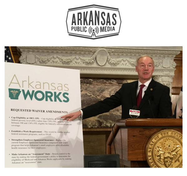 Governor Asa Hutchinson details proposed changes to Arkansas Medicaid expansion program on March 6, 2017.