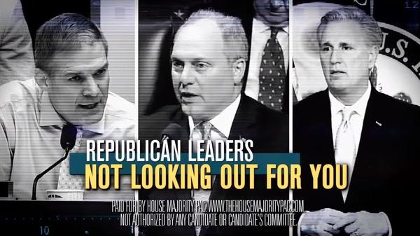House Majority PAC has unveiled a campaign ad taking aim at top House Republican leaders.
