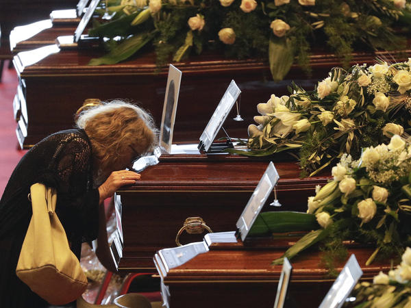 Mourners and heads of state gathered in Genoa, Italy on Saturday for a state-run funeral to honor victims of the highway bridge collapse on Tuesday. The death toll in the disaster rose to 43 on Saturday.