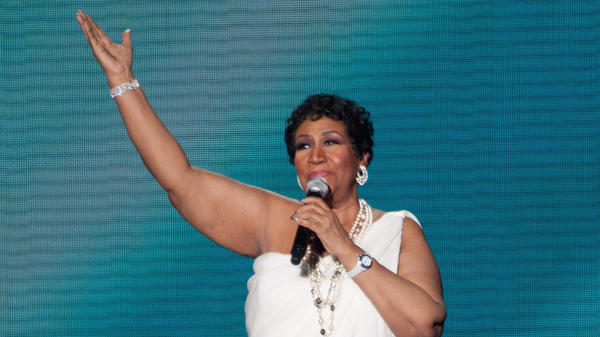 Aretha Franklin performs during Surprise Oprah! A Farewell Spectacular in Chicago in 2011.