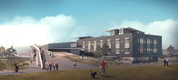 Artist's rendering of new Marine Studies Building now under construction.