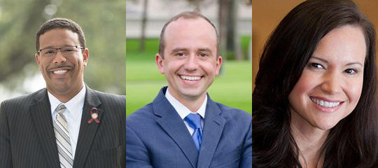 Sean Shaw, Ryan Torrens and Ashley Moody are three of the four major party candidates seeking their party nomination in the Aug. 28 primary