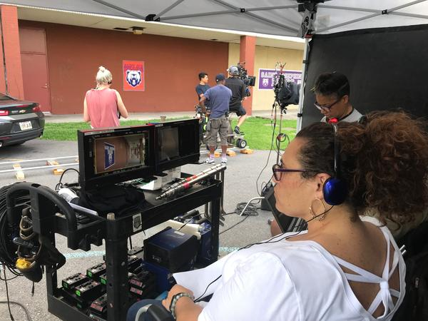 Rachel Raimist directing her episode of 'Queen Sugar,' a show created by Ava DuVernay which airs on the Oprah Winfrey Network and features female directors.