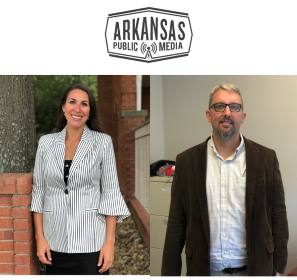 Arkansas Hospital Association Vice President Jodiane Tritt (left) and UA Little Rock Bowen School of Law Professor Christopher Trudeau (right) both weigh in on the proposed Issue 1 ballot measure.