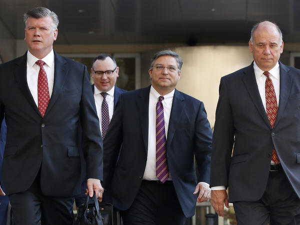 The defense team for Paul Manafort, shown here walking into federal court on Tuesday, rested without presenting any witnesses.