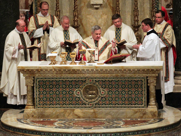 Archbishop Robert Carlson pictured at Cathedral Basilica on Saturday, Jan. 26, 2013, in St. Louis. On Thursday, he invited AG Josh Hawley to review church records and it's handling of sexual abuse allegations.