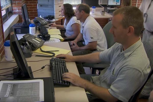 The Department of Veterans Affairs National Call Center in Canandaigua, N.Y., pictured in this 2013 photo, is one of three operated by the VA.