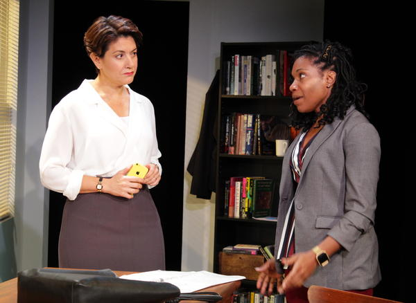 "Dean West and Cass in Rachel Lynett's ""Well Intentioned White People."""
