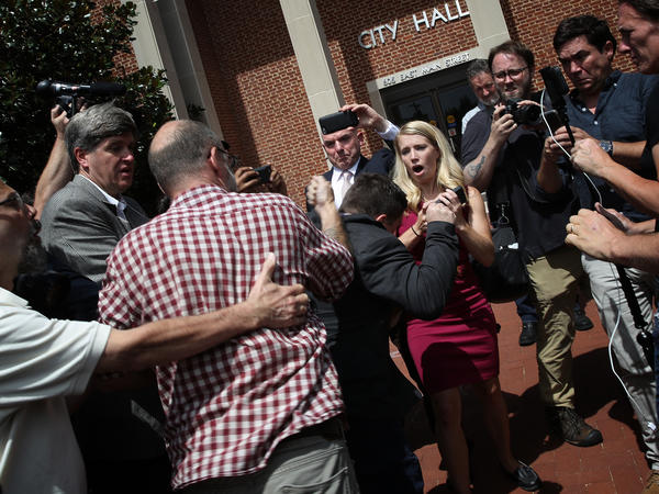 """Prosecutors and a local TV station identified Jeffrey Winder as the man who threw a punch at Jason Kessler, organizer of the 2017 """"Unite the Right"""" rally in Charlottesville, Va."""