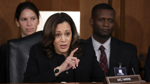 """Sen. Kamala Harris, D-Calif., questions Supreme Court nominee Judge Brett Kavanaugh about whether he had ever spoken with anyone at Kasowitz Benson Torres about the Mueller investigation. Kavanaugh responded: """"The answer is no."""""""