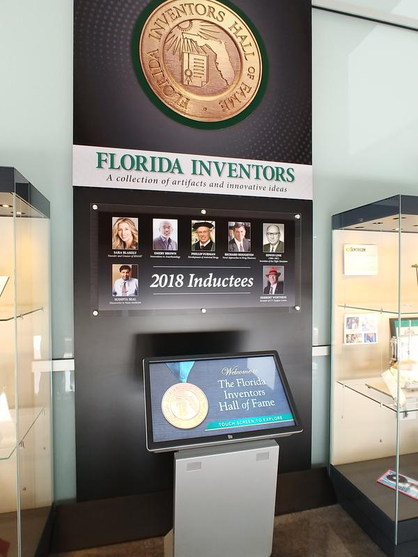 Videos profiling each member of the FL Inventors HOF can be viewed at the display.