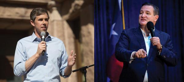 U.S. Rep. Beto O'Rourke, D-El Paso (left) will debate incumbent U.S. Sen. Ted Cruz at a debate in Dallas tonight.