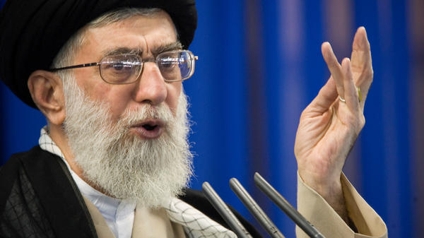 """Supreme Leader Ayatollah Ali Khamenei said a """"cowardly attack"""" at a military parade in Iran over the weekend was carried out by a separatist group supported by the U.S. He's seen here speaking in Tehran earlier this month."""