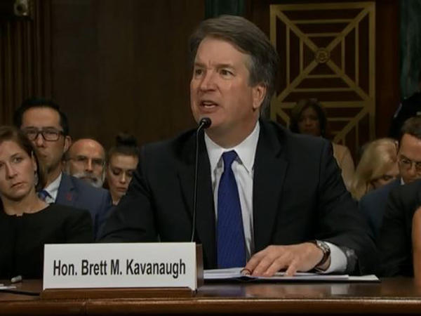 Judge Brett Kavanaugh testifies before the Senate Judiciary Committee.