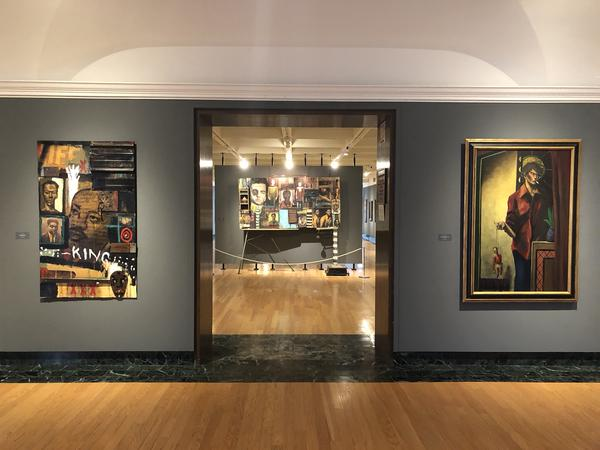 The paintings of Rock and Roll Hall of Fame inductee John Mellencamp are featured at the Butler Institute in Youngstown