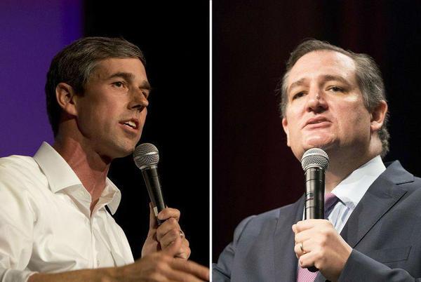 The debate between Beto O'Rourke, left, and Ted Cruz has been postponed.