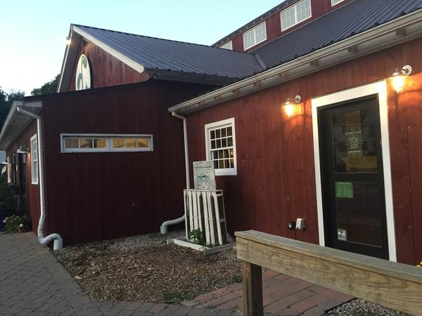Start Line Brewing Company's cozy taproom is attached to a high-end, hydroponic farm stand that sells its own organic veggies, locally made vinegars and free-range meats.
