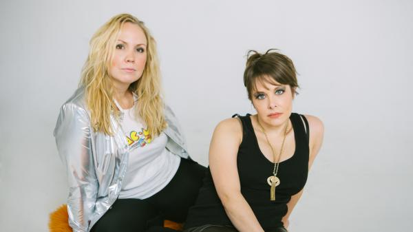 The Reckless Electric members Mary Bragg (left) and Becky Warren (right).