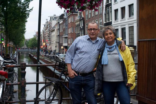 Bert Nap and Conchita Lavalette live in Amsterdam's Red Light District. Nap first moved here 40 years ago as a student.