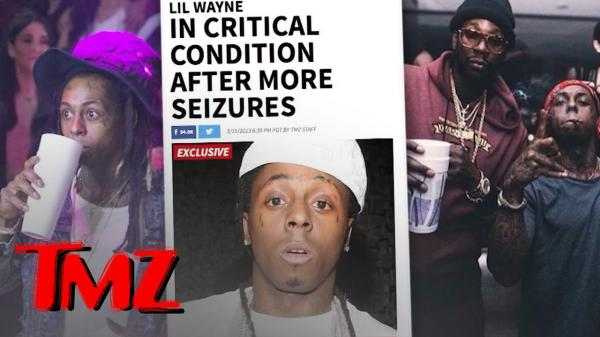 A TMZ YouTube thumbnail from 2013, following one of many rumored Lil Wayne health scares.
