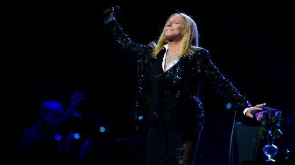 Barbra Streisand, performing onstage in Philadelphia in 2012.