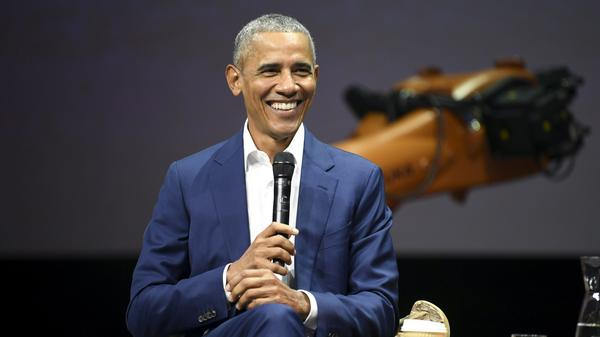 Former U.S. President Barack Obama, attends the Nordic Business Forum business seminar in Helsinki, Finland last month. Obama has endorsed more than 300 candidates running for office in this year's midterm elections.