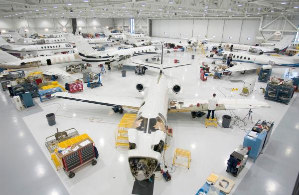 Inside a Textron Aviation facility in Wichita, Kansas