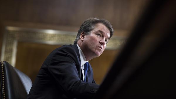 Judge Brett Kavanaugh testifies before the Senate Judiciary Committee on Thursday.