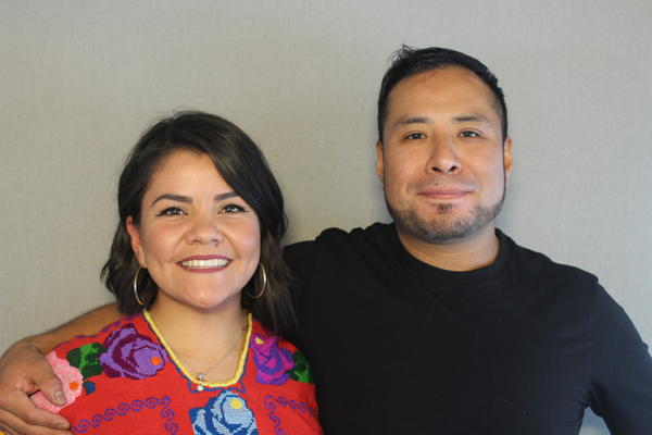 Mariana Hildreth and Tony Santiago talked about their experiences coming to the U.S. at the StoryCorps Mobile Tour in Kansas City.