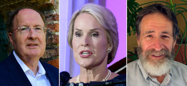 Gregory Winter (left), of the MRC molecular biology lab in Cambridge, England; Frances Arnold (center), of the California Institute of Technology; and George Smith (right), of the University of Missouri, won the 2018 Nobel Prize in chemistry.