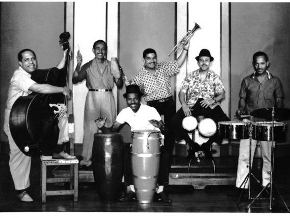 Cachao Y Su Orquesta pictured during a historic recording session included in the new box set <em>The</em> <em>Complete Cuban Jam Sessions. </em>