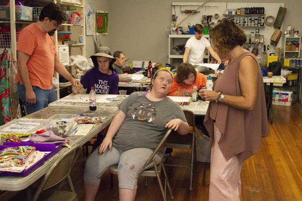 Artist Jenn Fryman speaks with Kelly Larson, the creative director for Living Arts Studio.