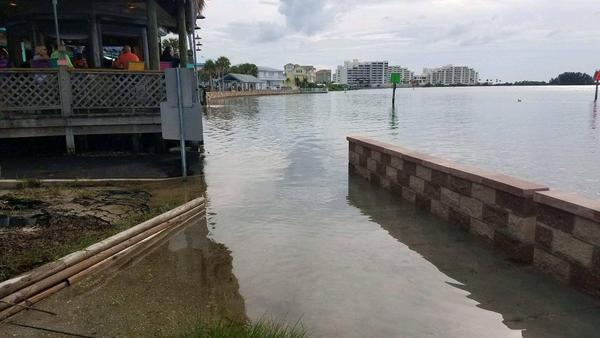 Water level at Hudson Beach.