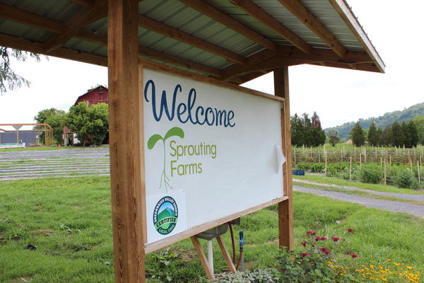 Sprouting Farms located in Talcott, WV is a production scale farm and farmer training program, supported in part by a grant from the Appalachian Regional Commission.