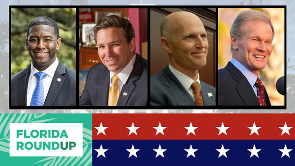 Left to Right: Andrew Gillum (D), Ron DeSantis (R), Rick Scott (R), Bill Nelson (D)