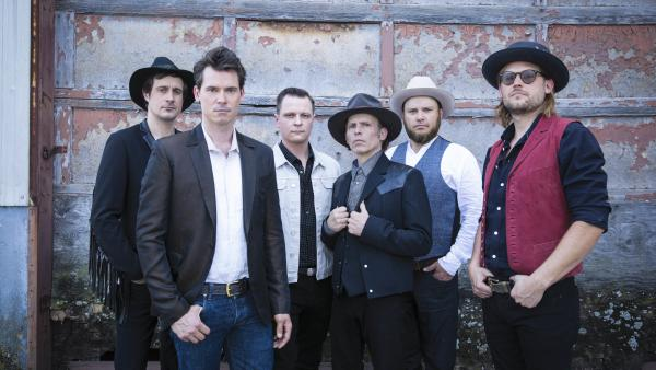 Ketch Secor (second from the left) with Old Crow Medicine Show band mates.