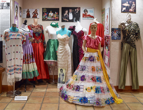 Women's costumes from Hernández's collection.