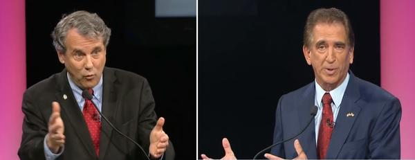 Sen. Sherrod Brown -- running for a third time -- and Rep. Jim Renacci squared off in Cleveland for their first debate. They'll meet again Saturday in Columbus, and on Oct. 26 at Miami University.