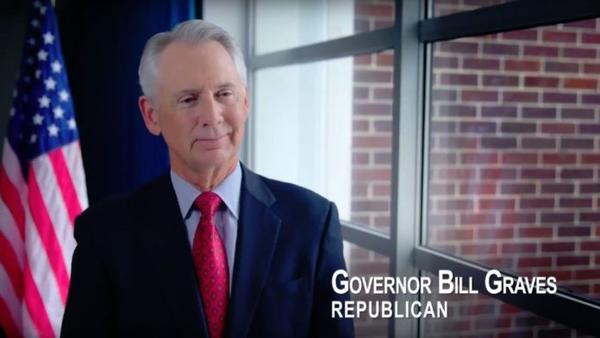 Former Republican Gov. Bill Graves endorsed Democrat Laura Kelly for governor in a 2018 campaign ad.