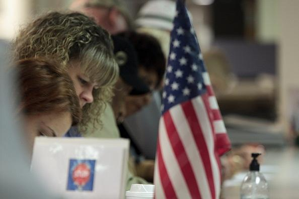 Early voters in Stark County fill out their ballots.