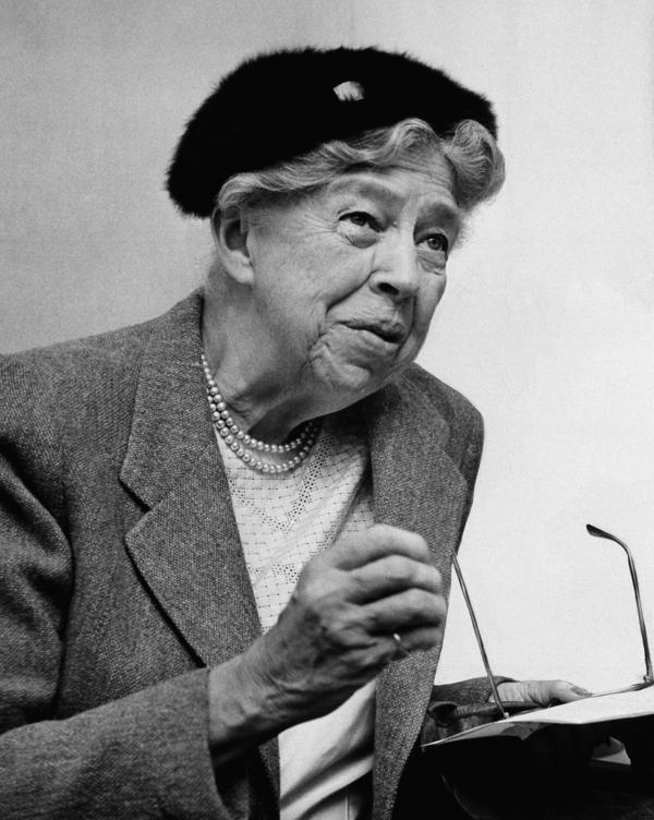 "Eleanor Roosevelt's advice column — ""If You Ask Me"" — ran from 1941, when she was still first lady, to her death in 1962. She's shown in October 1957."