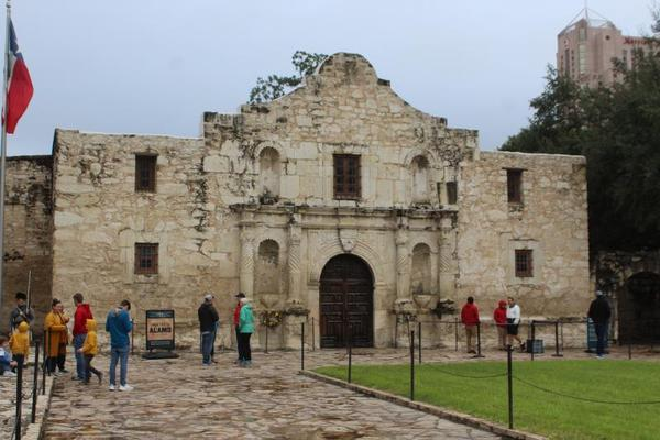 The church is the focal point of the Alamo and Alamo Plaza. A proposed master plan would redevelop Alamo Plaza to integrate its surroundings.